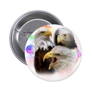Eagles Pin Redondo 5 Cm