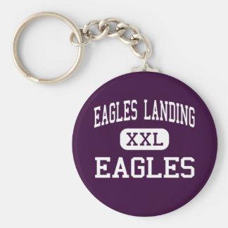 Eagles que aterriza - Eagles - el alto - McDonough Llavero Redondo Tipo Pin
