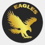 EAGLES ROUND STICKER