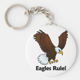 Eagles Rule! Basic Round Button Keychain