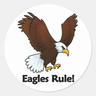 Eagles Rule! Classic Round Sticker