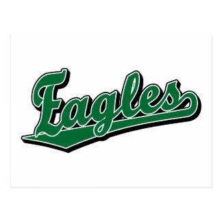 Eagles script logo in Green Postcard