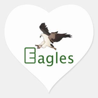 Eagles Heart Sticker