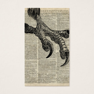 Eagle's Talon Claws Vintage Book Page Illustration Business Card