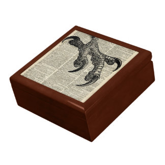 Eagle's Talon Claws Vintage Book Page Illustration Gift Box