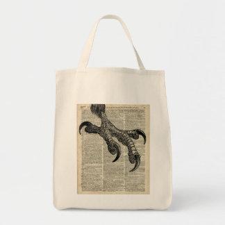 Eagle's Talon Claws Vintage Book Page Illustration Tote Bag