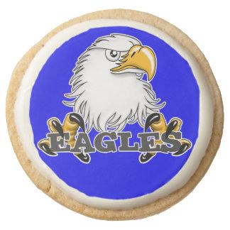 Eagles Team Eagle Round Shortbread Cookie