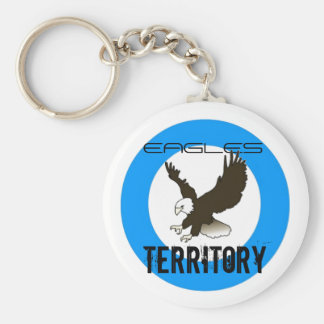 EAGLES TERRITORY! BASIC ROUND BUTTON KEYCHAIN