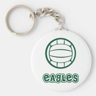 Eagles Volleyball Basic Round Button Keychain
