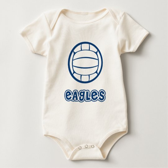 Eagles Volleyball Blue Baby Bodysuit