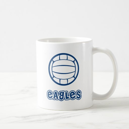 Eagles Volleyball Blue Coffee Mug