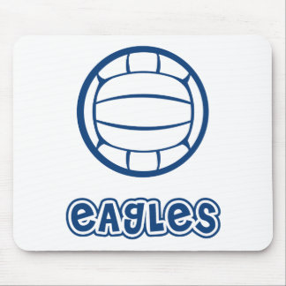 Eagles Volleyball Blue Mouse Pad