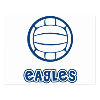 Eagles Volleyball Blue Postcard