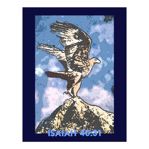 Eagles Wings - Isaiah 40:31 Full Color Flyer