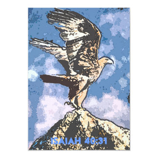 "Eagles Wings - Isaiah 40:31 5"" X 7"" Invitation Card"