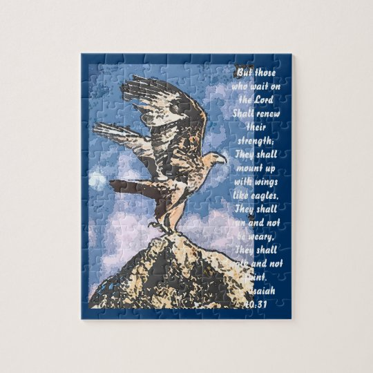 Eagles Wings - Isaiah 40:31 Jigsaw Puzzle