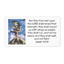 Eagles Wings - Isaiah 40:31 Label