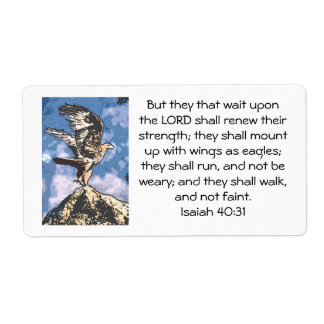 Eagles Wings - Isaiah 40:31 Label