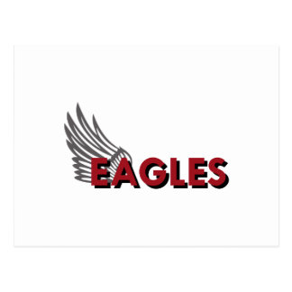 EAGLES WITH WING POSTCARD
