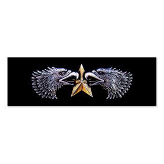 Eagles y tarjeta de visita de plata de la señal de