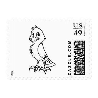 Eaglet sonriente feliz blanco y negro sello postal