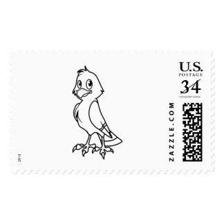 Eaglet sonriente feliz blanco y negro sellos
