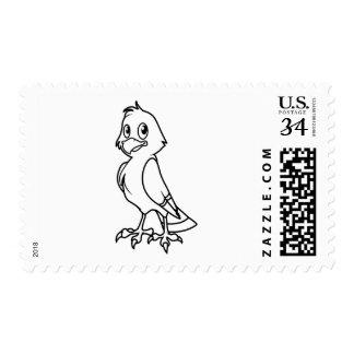 Eaglet sonriente feliz blanco y negro timbres postales