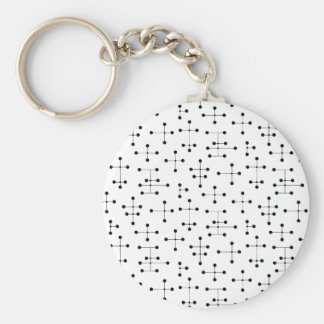 Eames-Era Black Dots Keychain