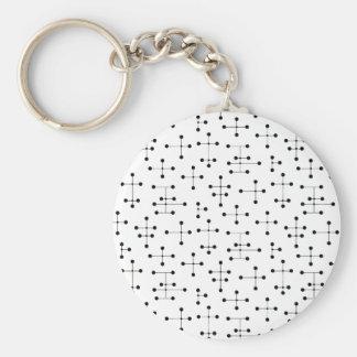 Eames-Era Black Dots Keychain