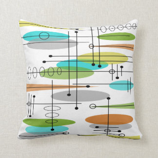 Eames Inspired Pillow Design Mid Century #7