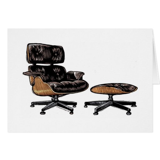 Eames Lounge Chair and Ottoman Greeting Card