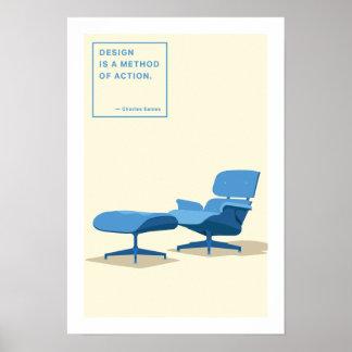 Eames Lounge Chair Print