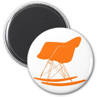 Eames molded plastic rocking chair 2 inch round magnet