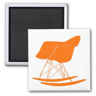 Eames molded plastic rocking chair 2 inch square magnet