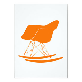 Eames molded plastic rocking chair card