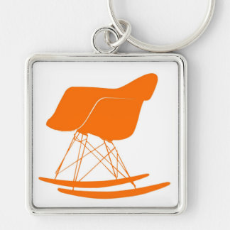 Eames molded plastic rocking chair keychain