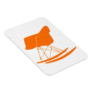 Eames molded plastic rocking chair rectangular photo magnet