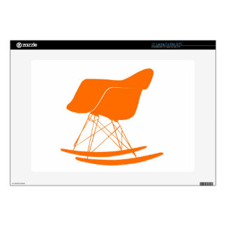 "Eames molded plastic rocking chair decals for 15"" laptops"