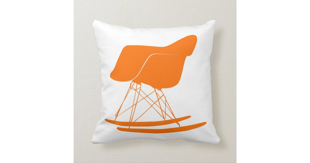 Eames molded plastic rocking chair throw pillow  Zazzle