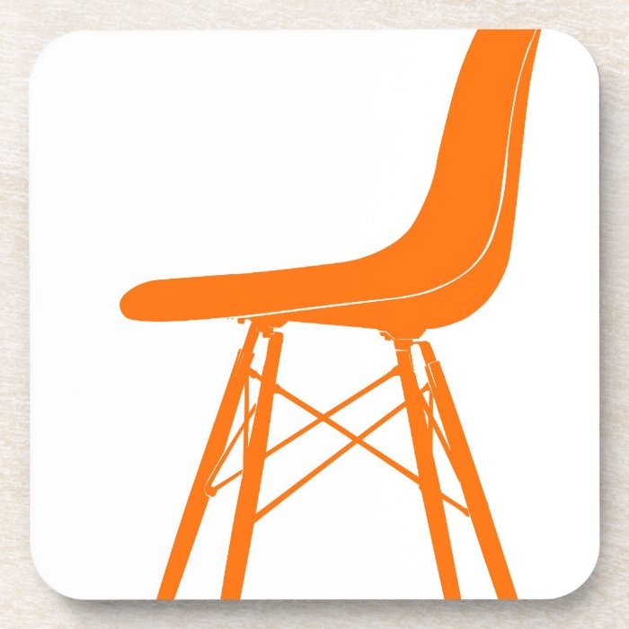 eames molded plastic side chair beverage coaster zazzle