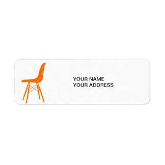 Eames molded plastic side chair label