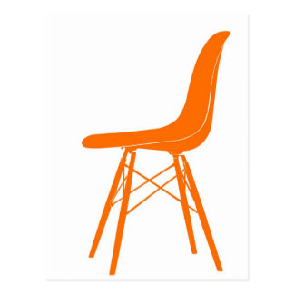 Eames molded plastic side chair postcards