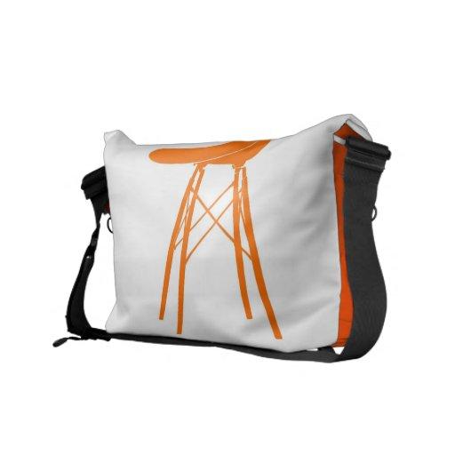 Eames moldeó la silla lateral plástica bolsas messenger