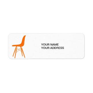 Eames moldeó la silla lateral plástica etiqueta de remite