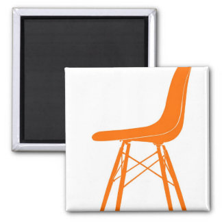 Eames moldeó la silla lateral plástica imán cuadrado