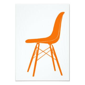 "Eames moldeó la silla lateral plástica invitación 3.5"" x 5"""