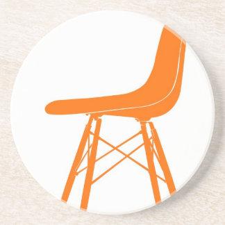 Eames moldeó la silla lateral plástica posavasos diseño
