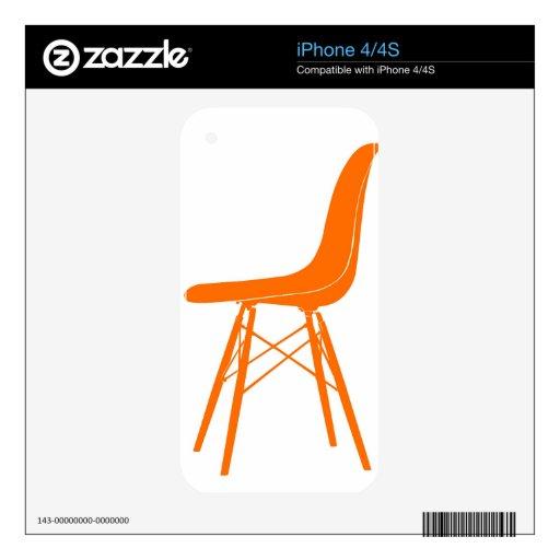 Eames moldeó la silla lateral plástica iPhone 4S calcomanía