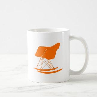 Eames rocker chair in orange coffee mug