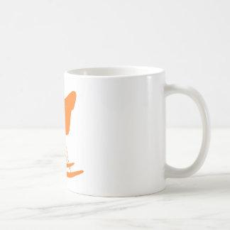 Eames rocker chair in orange mugs